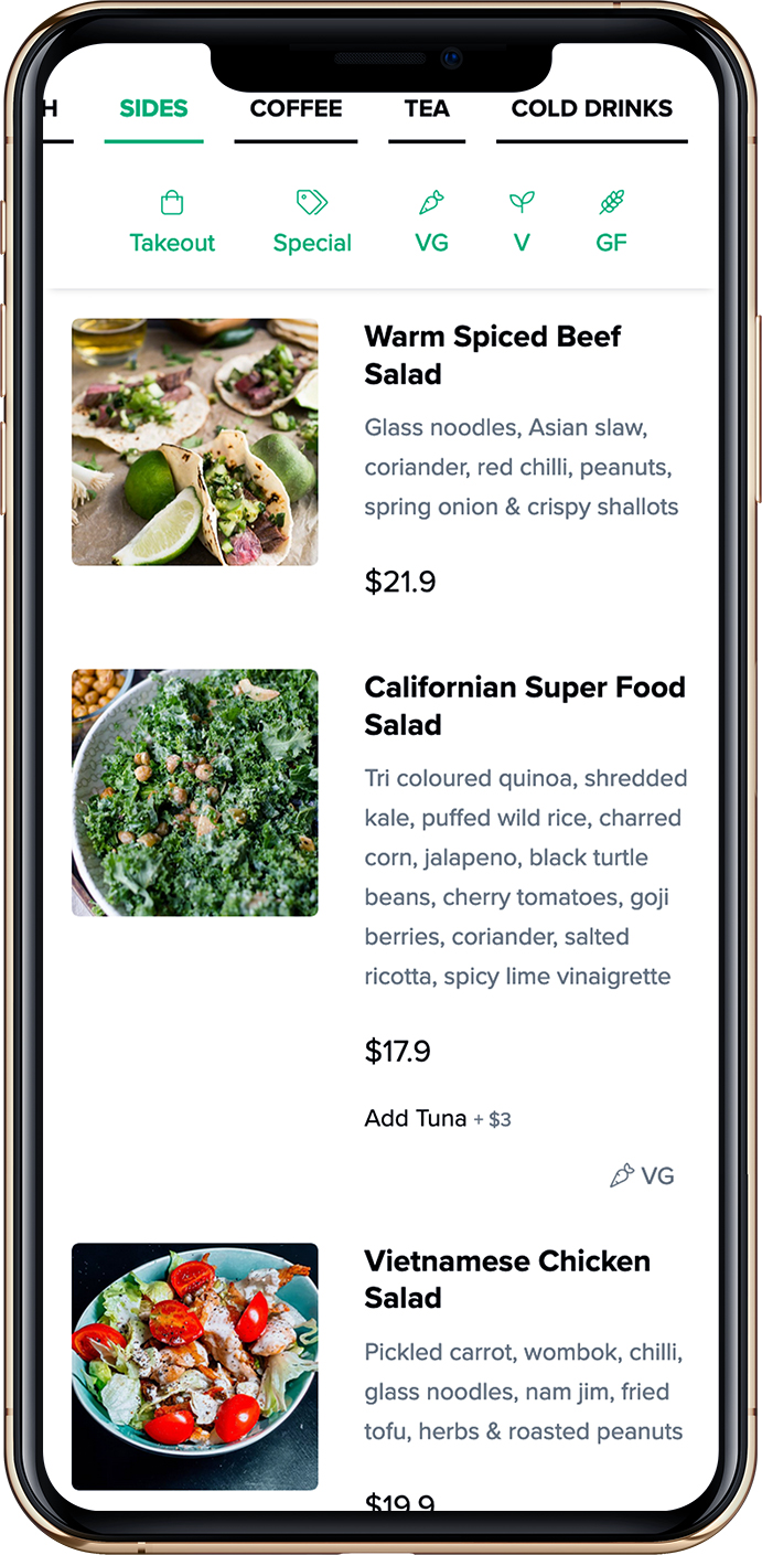 Happy menu QR Code menu